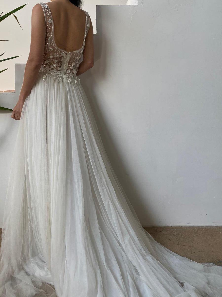 Embellished Tulle Gown - M/6/8