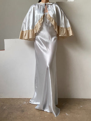 1930s 2-Piece Ice Blue Ensemble - S