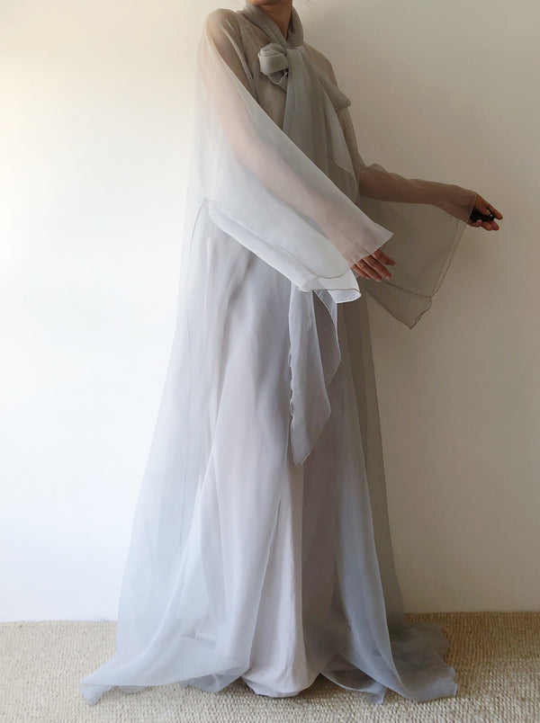 1960s Sheer Chiffon Duster - One Size