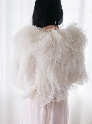 1930s Ostrich Feather Capelet - One Size