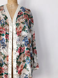1980s Chiffon Floral Duster - M
