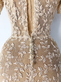 1930s Ecru Embroidered Gown - XXS/XS