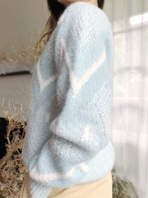 Vintage Baby Blue Pullover - M