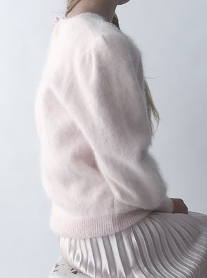 Vintage Blush Mohair Sweater - S/M