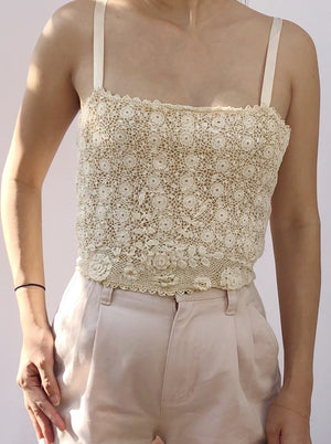 Antique Irish Lace Camisole - XS