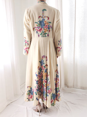 RARE 1940s Wool Embroidered Coat - S