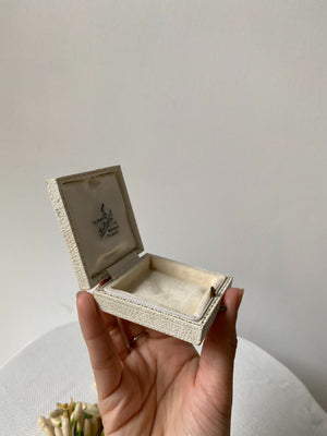 Small Ivory Leather Display Box