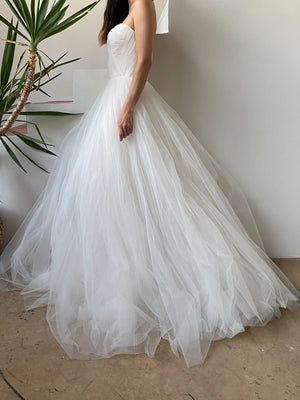 Reem Acra Tulle Strapless Gown - XS/0