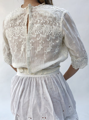 Antique Embroidered Top - XS