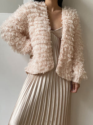 Vintage Blush Shaggy Jacket - S/M