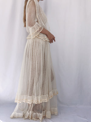 Antique Point D'esprit Dress - XS/S
