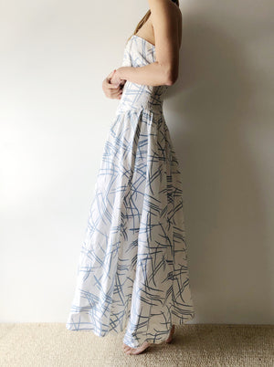 1980s Abstract Cotton Dress - S/M