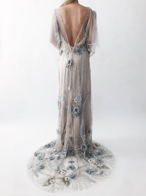 GOSSAMER Detailed Silk Organza Flower Gown - 6/8