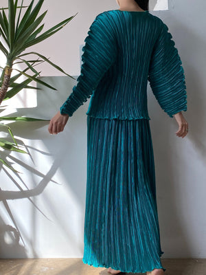 Vintage Ellen Hauptli Pleated Ensemble - S-L