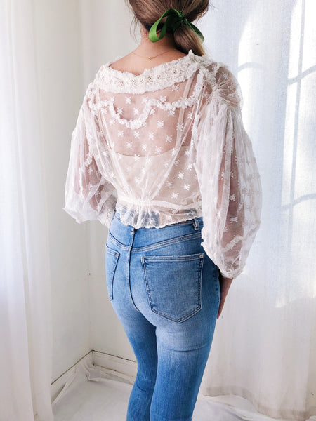 Antique Patterned Lace Bodice - XS/S