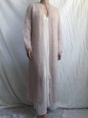 1950s/60s Soft Pink Long Mohair Duster  - XS-M