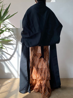 1950s Black Shawl/Cape - One Size