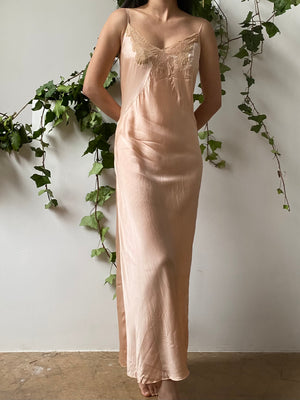 1930s Silk Slip Dress - M