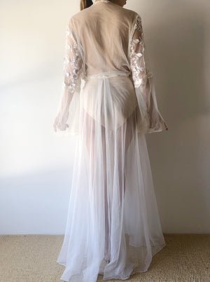Vintage Lace Dressing Gown - OSFM