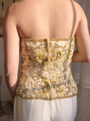 1980s Heavy Beaded Bustier - M/6