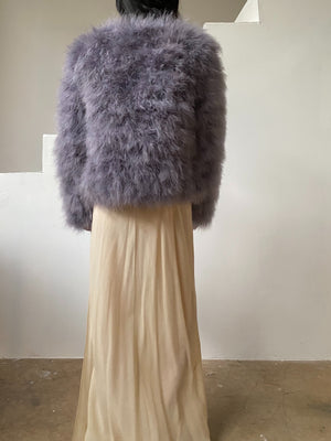 Vintage Periwinkle Feather Jacket - S