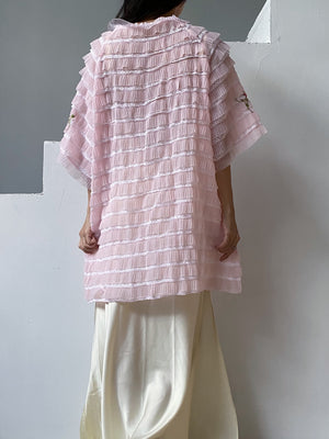 1960s Pink Tricot Dressing Gown/Duster - One Size