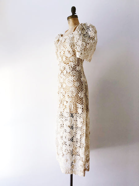 1950s/60s RARE Cutout Lace Dress - XS/S