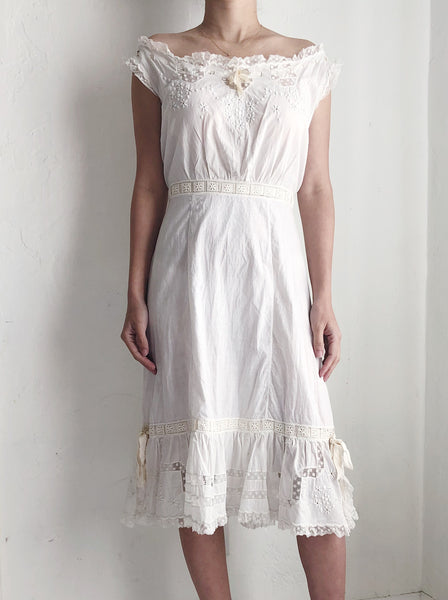 Antique Cotton Camisole Dress - XS