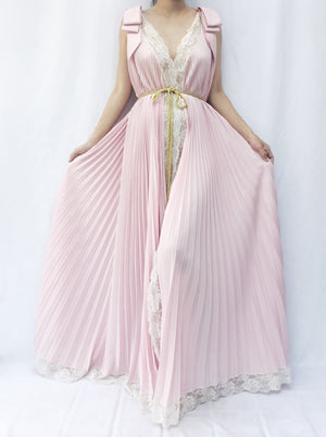 1950s Pink Lucie Ann Dressing Gown - One Size