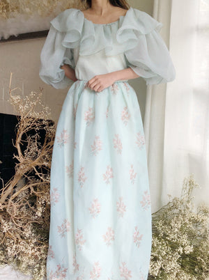 1980s Oscar De La Renta Puff Sleeve Dress - M/L