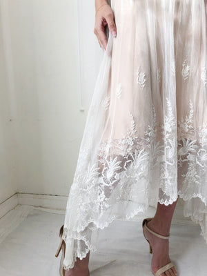 Edwardian Embroidered Lace Skirt - XXS