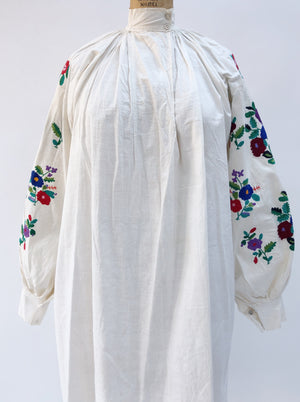 Antique Cotton Puffed Sleeve Top/Tunic - OSFM