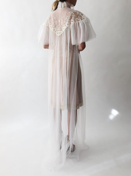 Vintage Tulle Dressing Gown - One Size