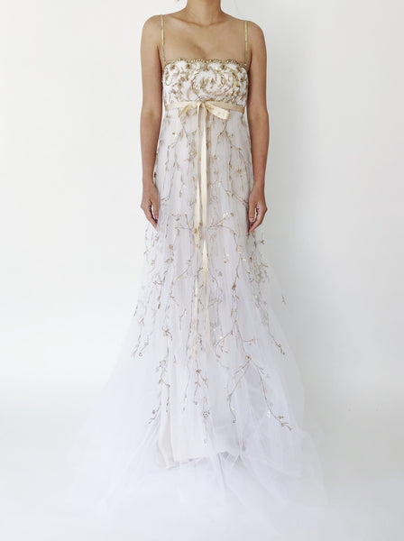 Oscar De La Renta Sequins Empire gown - S/M