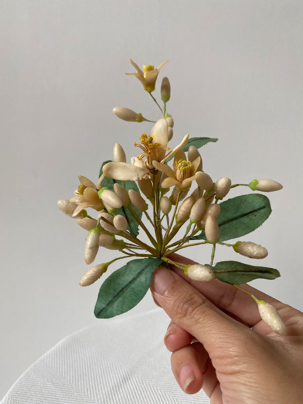 Antique Wax Floral Boutonniere