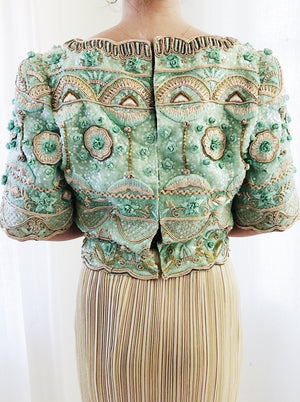 1980 Mint Embellished Lace Top/Jacket - XS/S