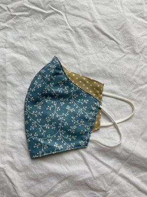 2-in-1 Blue Patterns Face Mask with Filter Slot