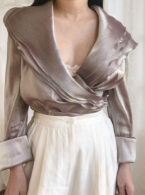 Vintage Metallic Layered Top - M