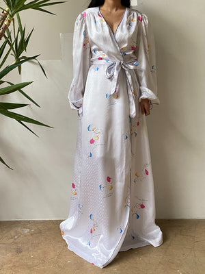Vintage Givenchy Poet Sleeve Dressing Gown - One Size