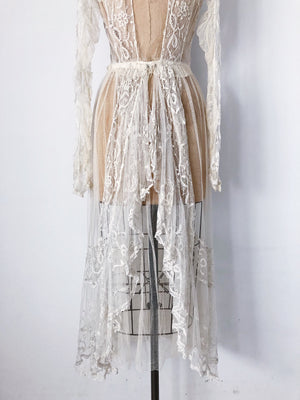 Edwardian Duchesse Lace Dress - S