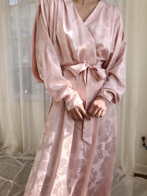 Vintage Dolman Sleeve Dressing Gown - One Size