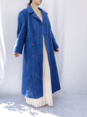 1950s Royal Blue Shaggy Coat - M