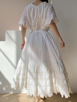 Antique Cotton Tent Dress  - OSFM