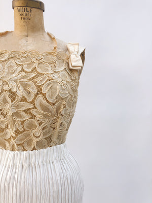 1950s Corded Lace Top - XS/S
