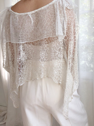 1920s Silk Lace Top - OSFM