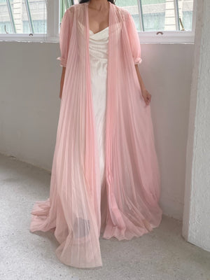1950s Crystal Pleated Dressing Gown - OSFM