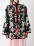 Antique Silk Jacket with Embroidery - S