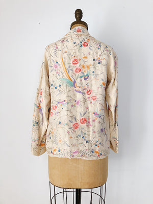 RESERVED 1920s Embroidered Silk Short Jacket- S/M