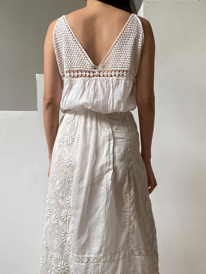 Antique Cotton/Silk Camisole - M
