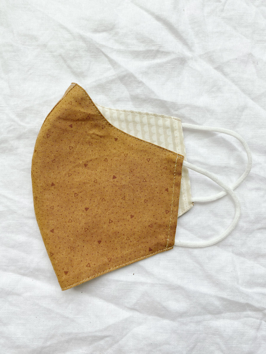 2-in-1 Reversible Neutral Cotton Face Mask with Filter Slot